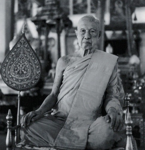 The late Pha Khamchan, Chief Abbot of Vat Saen Sukharam and Founder of Buddhist Heritage Project. Courtesy of BHP