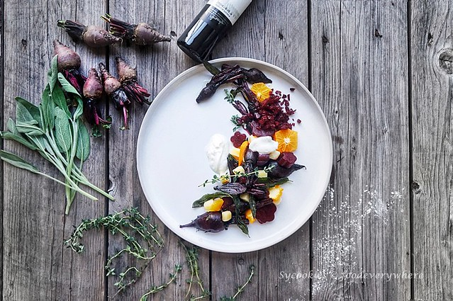 2.Citrus beet salad with truffle oil - D'Ark's Roasted Beetroot Salad inspired, with Panasonic Electric Oven