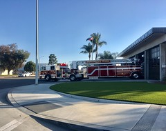 Huntington Truck 42 on a call from Murdy Station