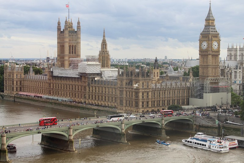 Big Ben and Houses of Parliament, viewed from the London Eye