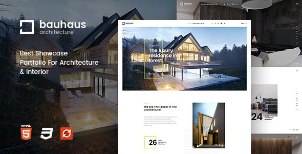 Bauhaus v1.2 – Architecture & Interior Drupal 8 Theme