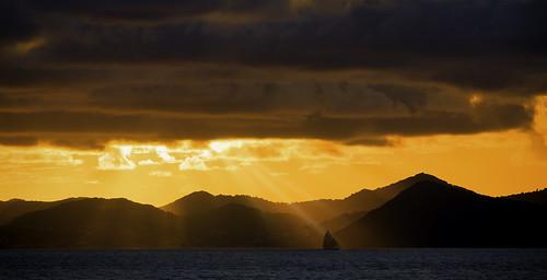caribbean skies stlucia sunrise castries saintlucia lc