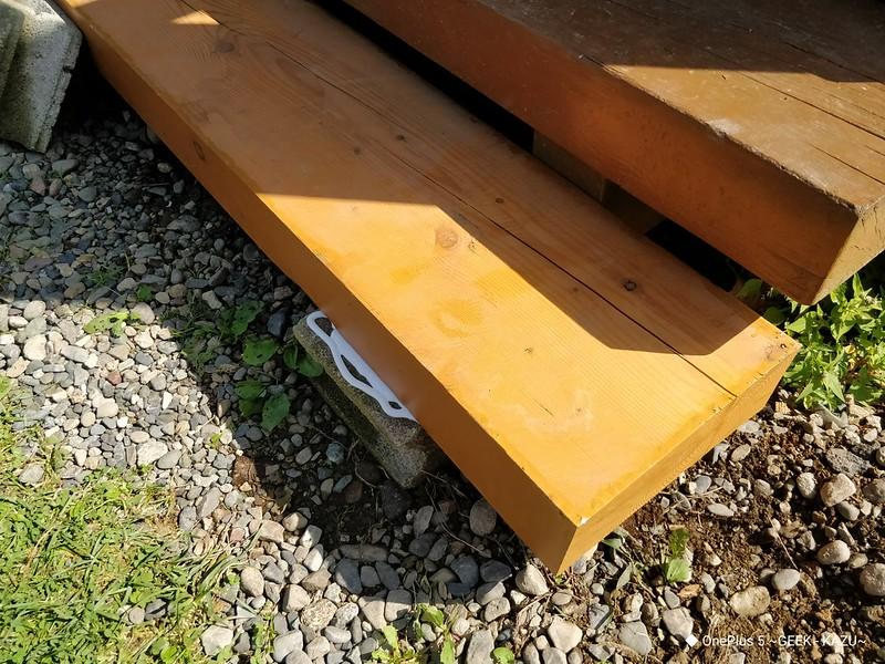 ベランダの階段修理 (10)