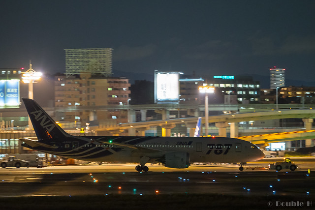 Itami Airport 2017.9.28 (25) JA802A / ANA's B787-8 commemorative painted of first delivery