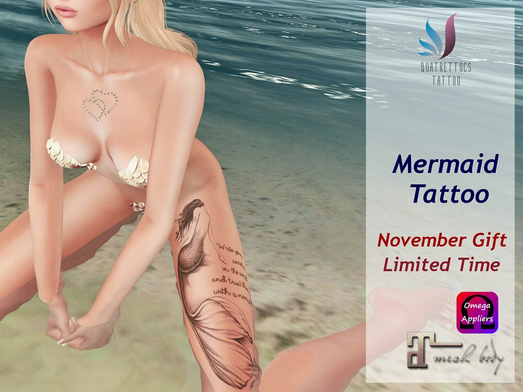 Mermaid Tattoo * November Gift - TeleportHub.com Live!