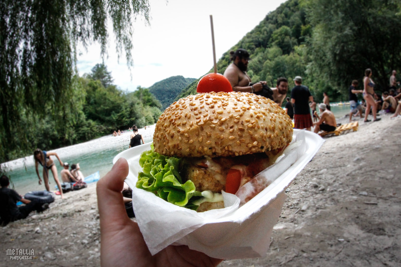 metaldays 2017, metaldays, tolmin, slovenia, metal festivals in europe, festival food, tofu burger