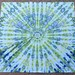 One of four fabrics that I ice dyed this past weekend, all using the same dye combination.