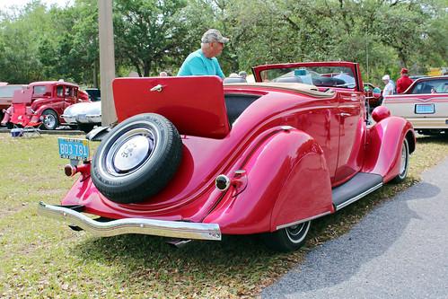 carshow car automobile ford cabriolet coupe convertible lecanto florida 1935
