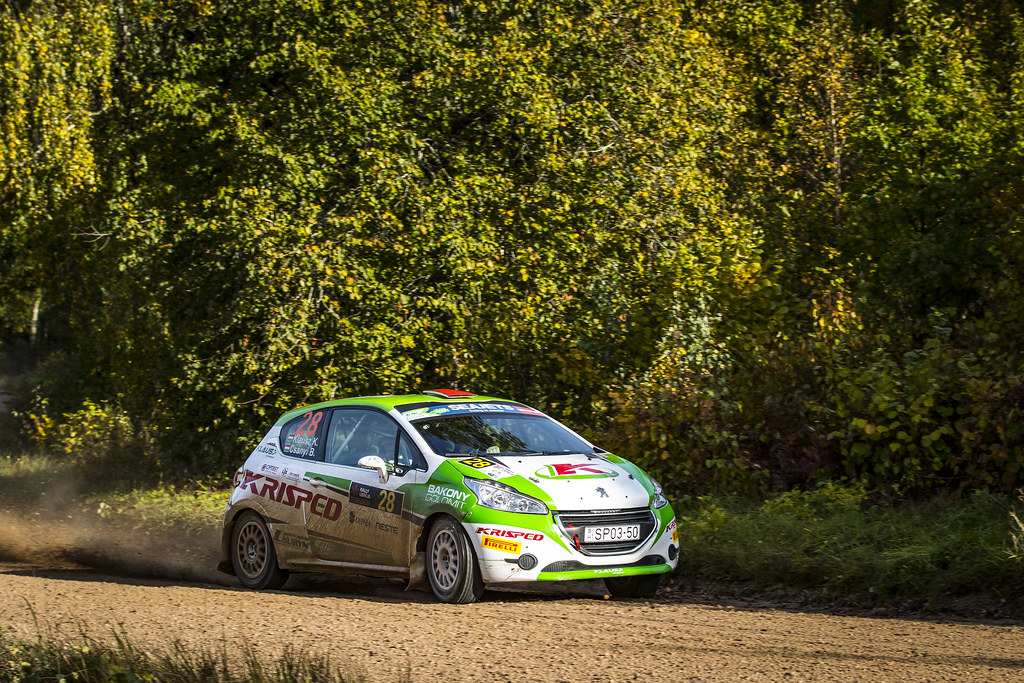 28 Klausz Kristof and Csanyi Botond, Klaus Motorsport, Peugeot 208 R2 ERC Junior U27 action during the 2017 European Rally Championship ERC Liepaja rally,  from october 6 to 8, at Liepaja, Lettonie - Photo Gregory Lenormand / DPPI