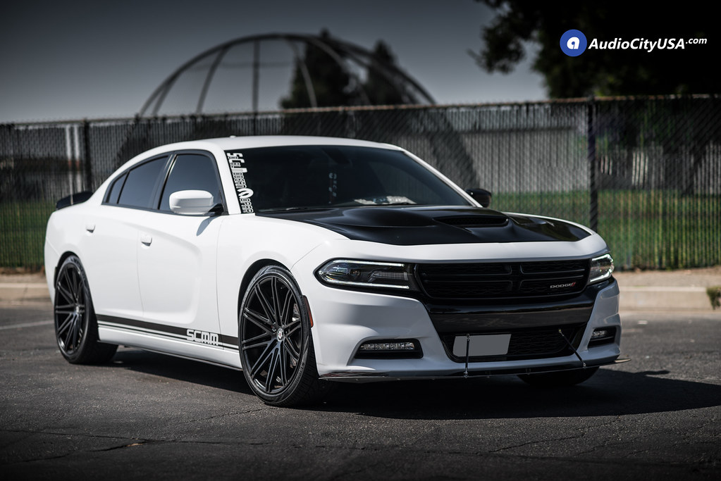 2015 Dodge Charger 22x9 5 Sevizia Wheels Se429 Satin