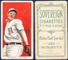 1909-11 / T206 White Border / Minor League - BILL CHAPPELLE (Pitcher) - Rochester Bronchos / Eastern League (Raw) (1910 / Sovereign 350 / Factory 25 Back) Tobacco / Cigarette Baseball Card (#79)