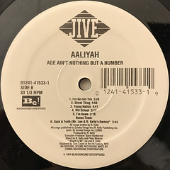 AALIYAH:AGE AIN'T NOTHING BUT A NUMBER(LABEL SIDE-B)