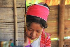 Too tired - Kayan girl- Northern Thailand