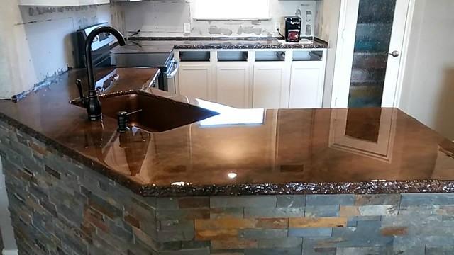 Metallic Marble Epoxy Countertop- Artisan Concrete & Surfaceworks- Houston, TX