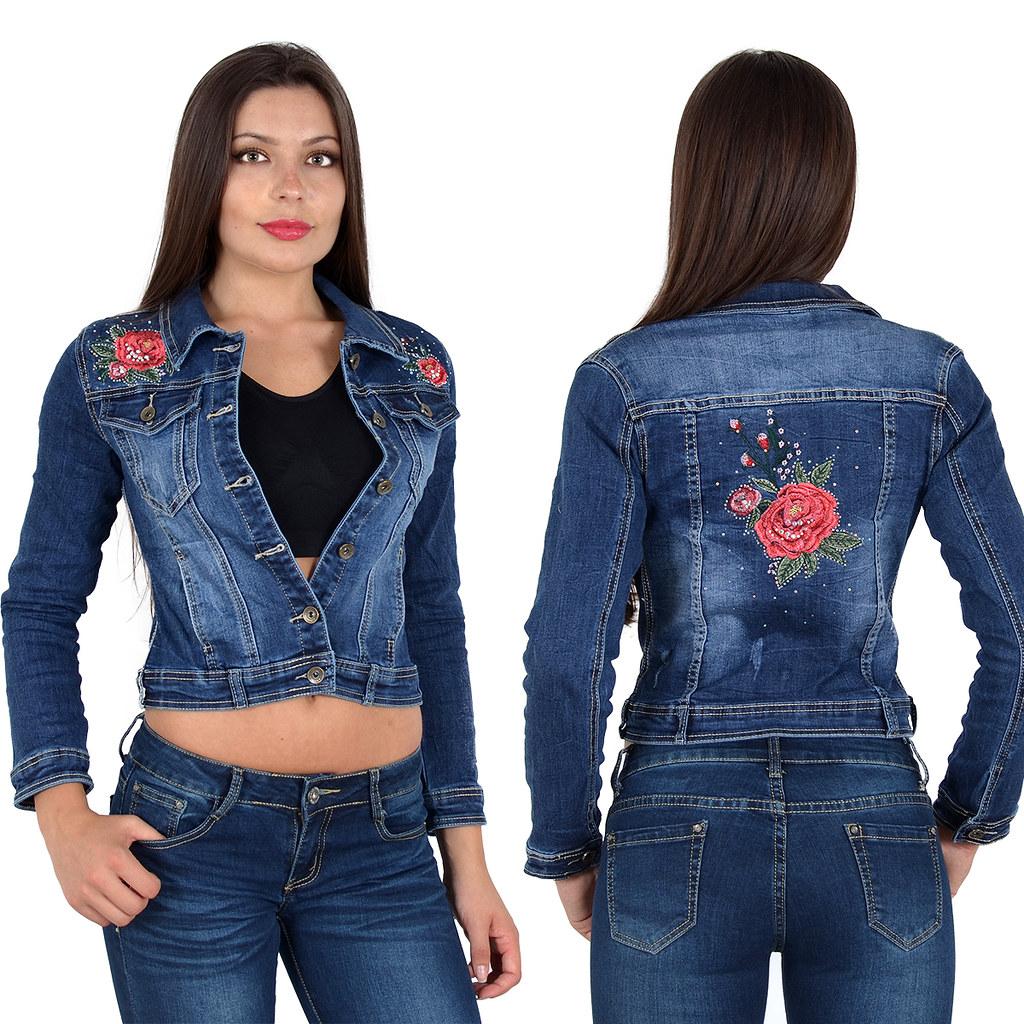 damen jeansjacke jeans jacke damenjacke bolero kurz schwarz blau top modelle m03 ebay. Black Bedroom Furniture Sets. Home Design Ideas