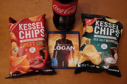"""Kesselchips und Coca-Cola zum Film """"Logan"""""""