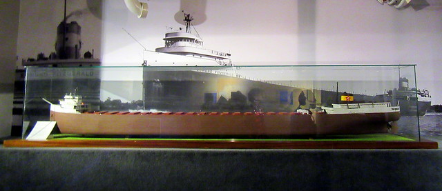 Model and Photo of the Edmund Fitzgerald