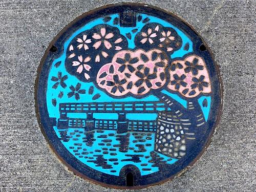 Hamura Tokyo, manhole cover (東京都羽村市のマンホール)