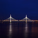 The new cable-stayed bridge in St. Petersburg.