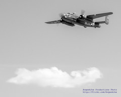 .@FlyingHeritage Mitchell Above A Cloud In