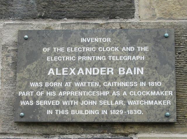 Alexander Bain Plaque, Wick