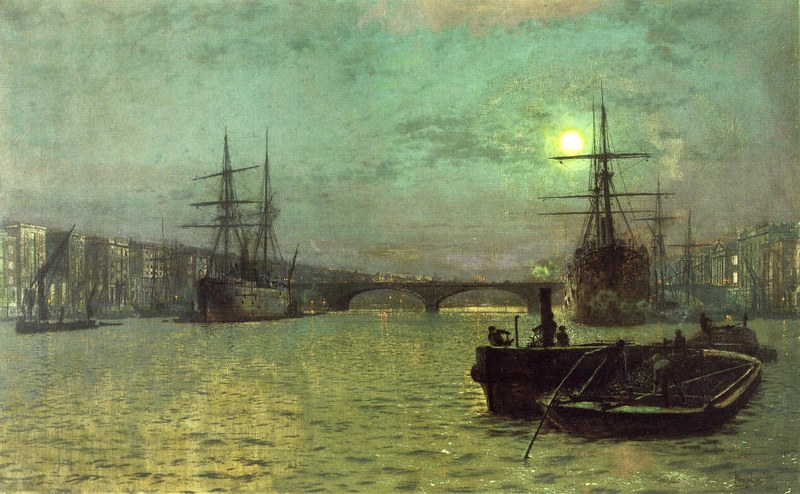 London Bridge - Half Tide by John Atkinson Grimshaw, 1884