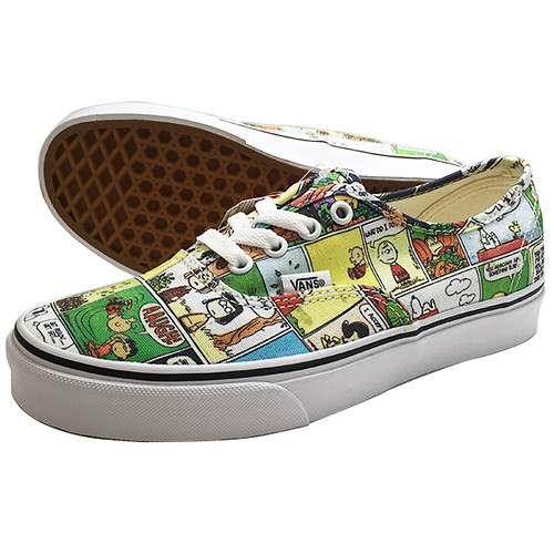 VANS PEANUTS Authentic WHITE 24.5cm Q&U