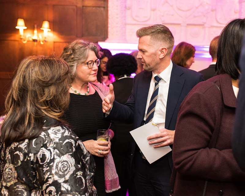 Shaista Mahmood; Amanda Downes, Social Secretary, the British Embassy; Patrick Davies, Deputy Ambassador, the British Embassy