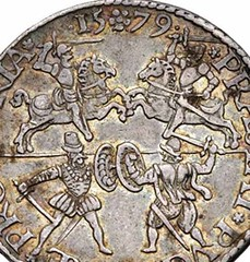 Netherlands coin Heads Impaled on Pikes reverse
