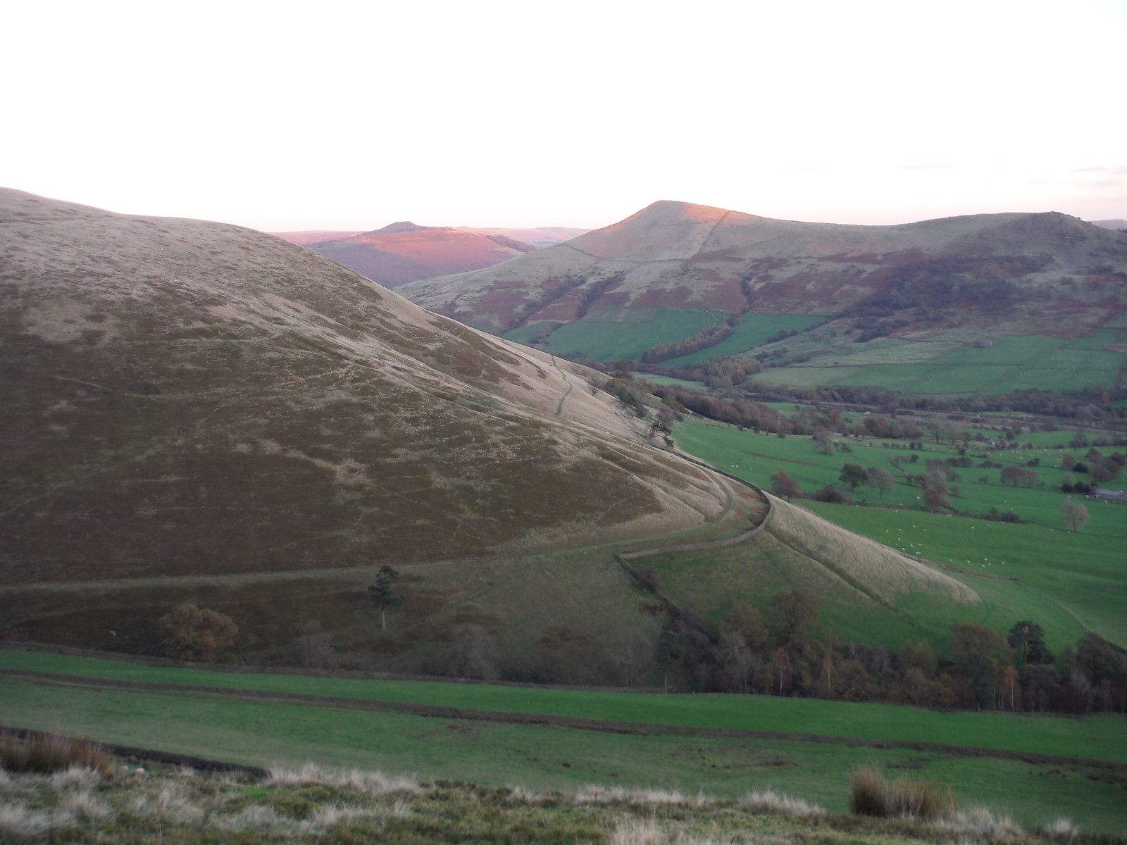 Win Hill and Lose Hill in the Evening Sun SWC Walk 304 - Kinder Scout Circuit (from Edale)