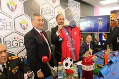 09/22/2017 - 13:37 - Quito 22 Sep (ANDES).- El club deportivo 'El Nacional' firmó un acuerdo con el Banco General Rumiñahui y gozan de 3 contrataciones nuevas para el equipo. Fotografías: Carlos Rodríguez/Andes.