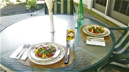 At Home: Dining on the Patio in October!