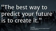 "Quotation:  ""The best way to predict your future is to create it."""