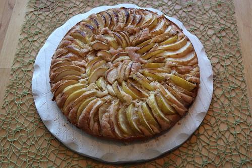 Blitzapfelkuchen (zur Verwertung der Fallobst-Äpfel)