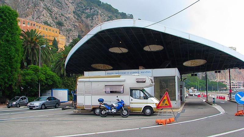 Menton French Italian border