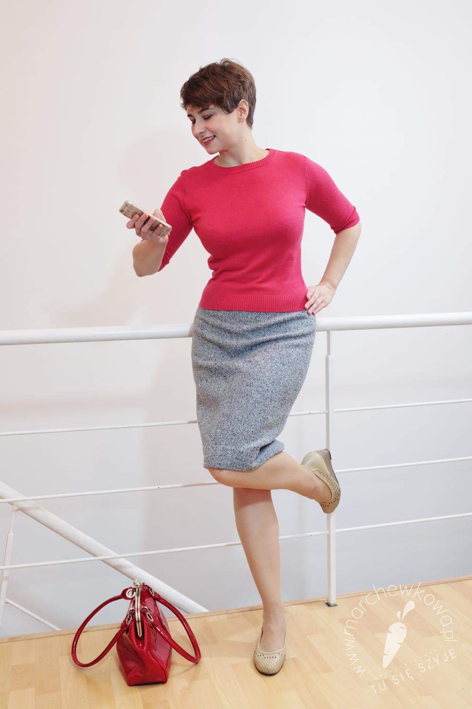 szycie, krawiectwo, marchewkowa, DIY, retro, vintage, sewing, 60s, tweed skirt, BPV, pattern