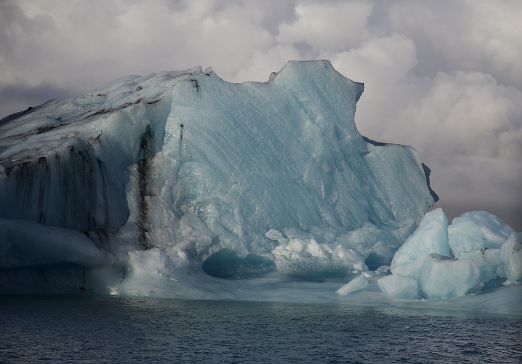 Iceberg in Iceland - it had recently flipped