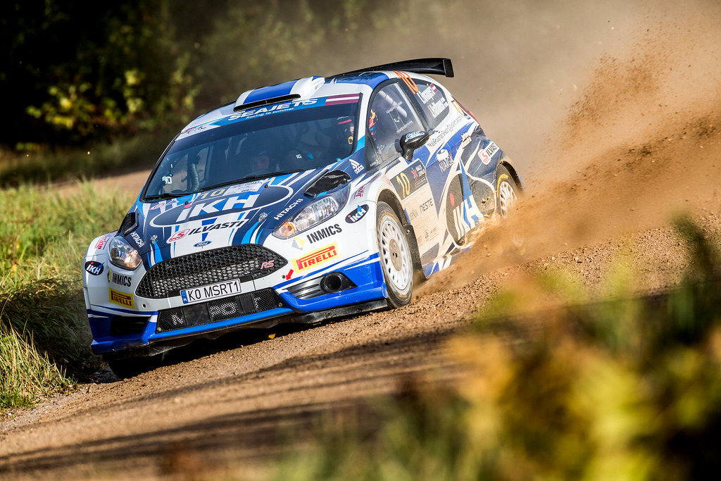10 Rovanpera Kalle and Halttunen Jonne, Ford Fiesta R5 action during the 2017 European Rally Championship ERC Liepaja rally,  from october 6 to 8, at Liepaja, Lettonie - Photo Thomas Fenetre / DPPI