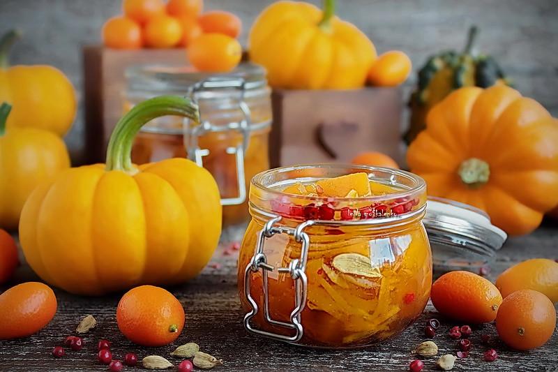 ...pumpkin marinated in orange juice