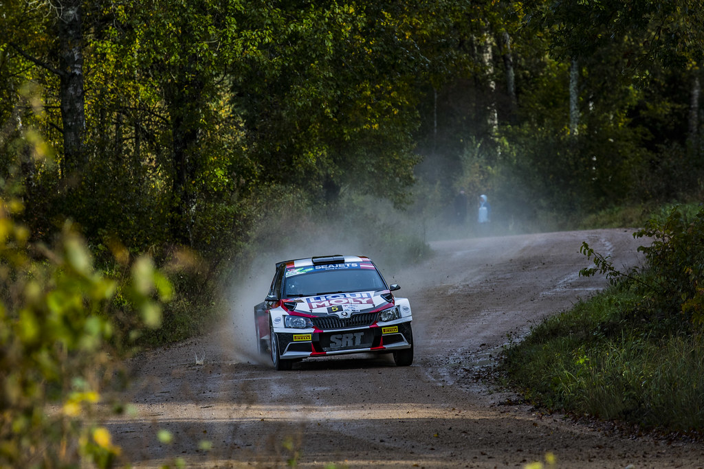 05 Gryazin Nikolay and Fedorov Yaroslav, Sports Racing Technologies, Skoda Fabia R5 ERC Junior U28 action during the 2017 European Rally Championship ERC Liepaja rally,  from october 6 to 8, at Liepaja, Lettonie - Photo Gregory Lenormand / DPPI