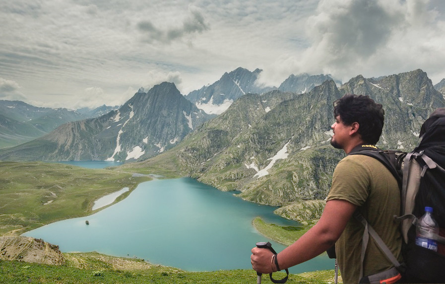 Kamal at Gadsar Pass  The Travelography