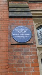 Photo of John Stewart Bell blue plaque