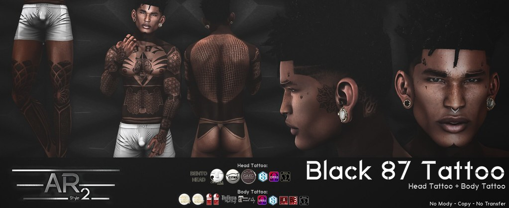 [AR2 Style] BLACK 87 Tattoo - TeleportHub.com Live!