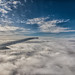 Clouds at cruising altitude