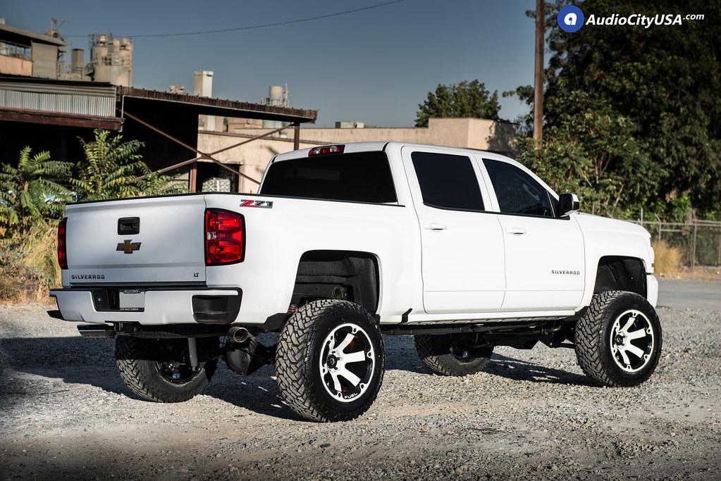 2017 White Chevy Silverado >> 2017 Chevy Silverado 1500 Z71 4x4 | 20x12 Fuel Wheels Beast D564 Color Matched | 35x12.5x20 Fuel ...