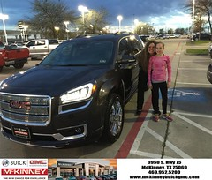 #HappyBirthday to Eva from Joshua Lewis at McKinney Buick GMC!