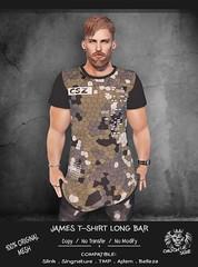 JAMES T-SHIRT LONG-BAR