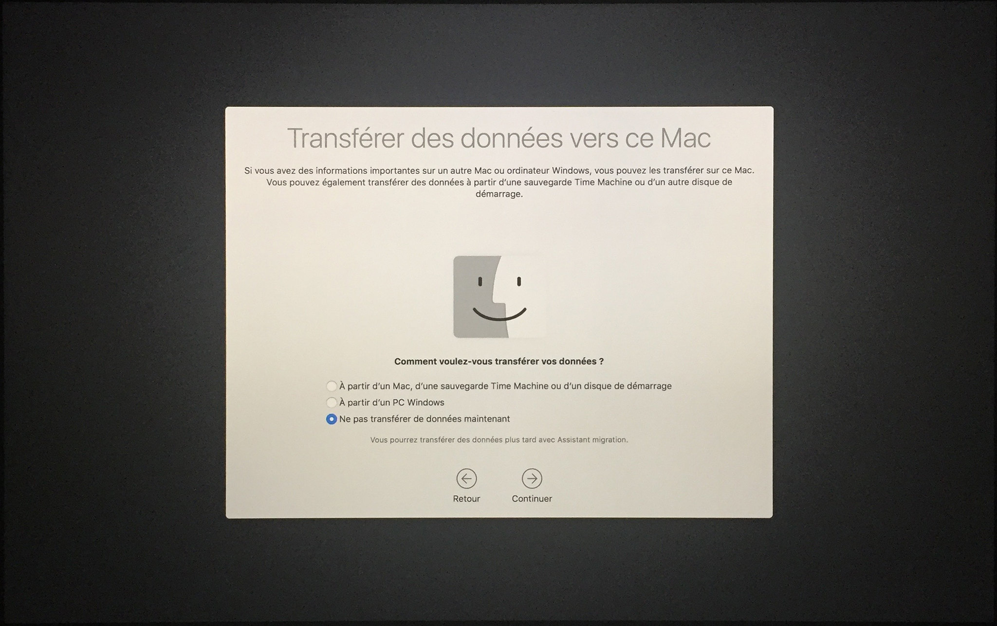 Installation mac OS Etape 00016