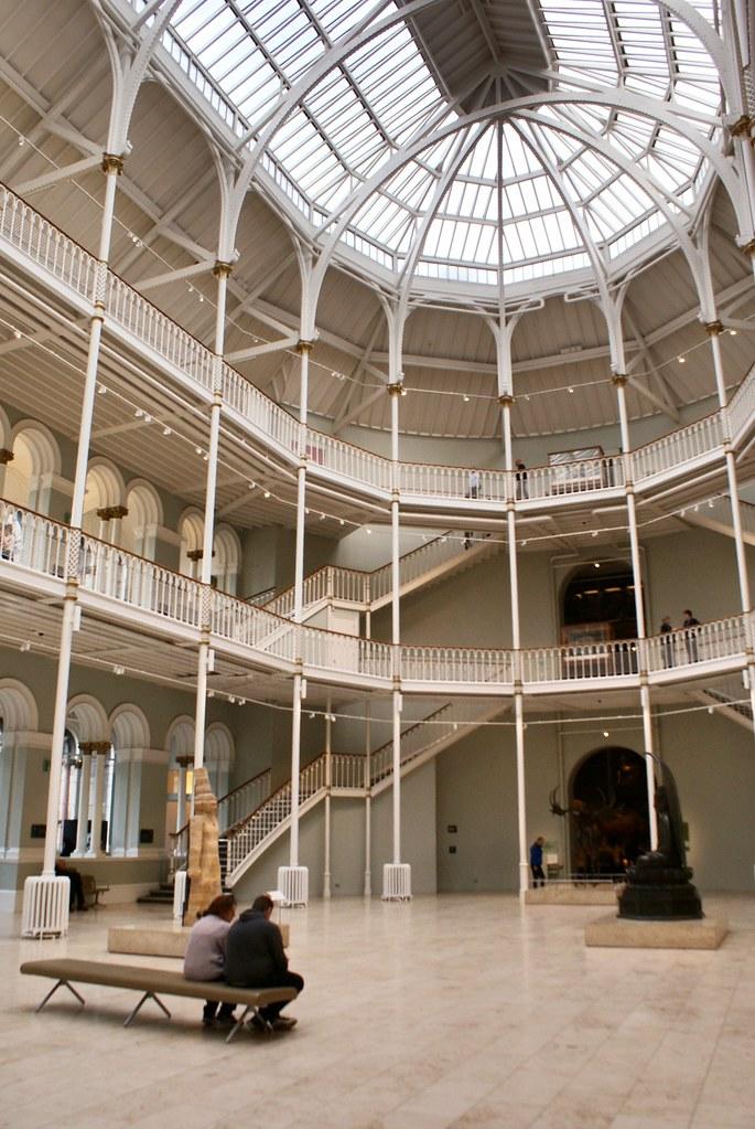 Belle charpente du Musée National d'Ecosse à Edimbourg
