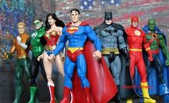 Justice League figures Superman Wonder Woman Batman